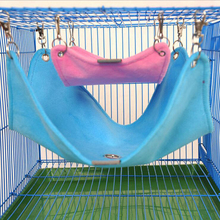 Warm Plush Cloth Hamster Chinchilla Hammock Guinea Pig Rabbit Hanging Bed Cage Accessories Pet Toys S M L(China)