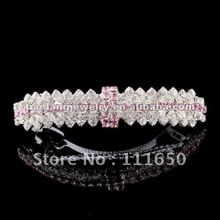 Wholesale Wedding Goody Metal Rhinestone Hair Clip Crystal Clip 6 Colors Available 12Pcs/Pack(China)