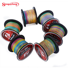 Sougayilang Braid Fishing 0.4-8# Braided Fishing Line Super Strong Multicolour Pe Material Line Multifilamento 500 M(China)