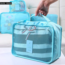 Nylon Packing Cube Travel Bag System Durable 6 Pieces One Set Large Capacity Of  Bags Unisex Clothing Sorting Organize