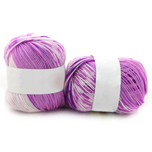 Hot New Silk Cashmere Blended Soft Thick Yarn for Knitting Baby Wool Crochet Yarn Hand Dyed Knitting Hand-Woven Thread F05