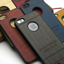 for iphone 5s case wood skin with hard PC cover case classical Vintage Retro Style  1pc free shipping