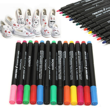 13pcs Fabric Marker Pens Permanent Paint Pens For DIY Textile Clothes T-Shirt Shoes Patchwork Crafts Sewing Accessories Mayitr(China)