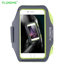 FLOVEME Universal Sports Running Arm Band Case For iPhone 5 6 6S 7 Smart Touch Phone Bag Case Sport Gym Mobile Phone Cases Cover(China)