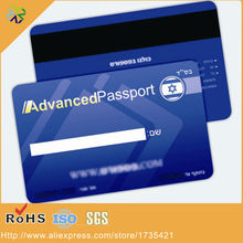 CR80 ISO standard size 0.76mm thickness plastic magnetic strip card with black high-co magnetic strip panel(China)