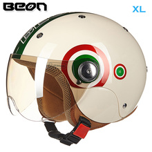 BEON B103 Children Motorcycle Helmets Boy Girl open face motorbike Motocicleta Casque made of ABS Size XL 52-54cm