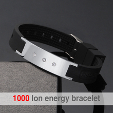 Hot Sale White Power Energy Hologram Bracelets Wristbands Keep Balance Ion Magnetic Therapy Fashion Silicone Bands Free Shipping