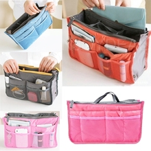 Brand New Organizer Bag Multifunctional Travel Insert Handbag Purse Large liner Box Top Quality(China)