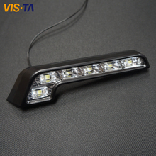 2Pcs/lot Super Bright White 6 LED DRL 7 Shape Car Daytime Running Driving Light Application For Mercedes Hot Dropshipping