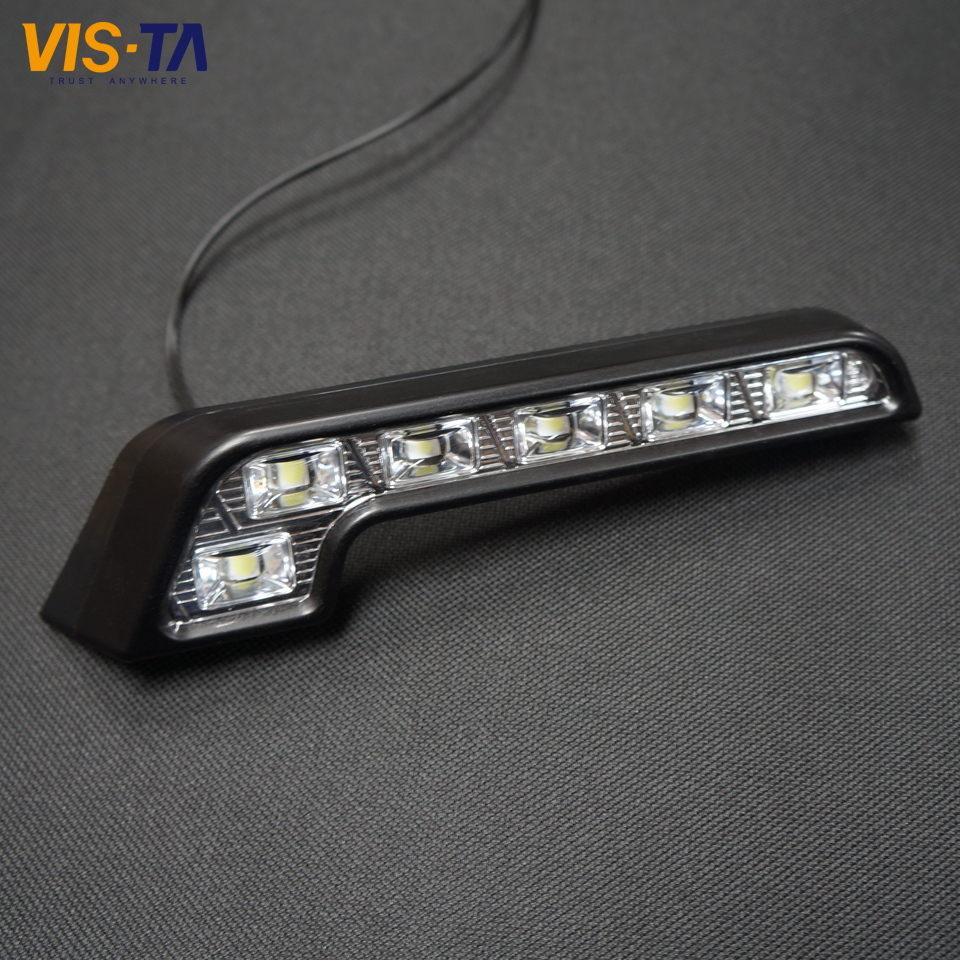 2Pcs/lot Super Bright White 6 LED DRL 7 Shape Car Daytime Running Driving Light Application For Mercedes Hot Dropshipping<br><br>Aliexpress