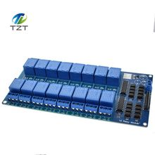 TZT teng 1PCS 5V 16 Channel Relay Module for arduino ARM PIC AVR DSP Electronic Relay Plate Belt optocoupler isolation(China)