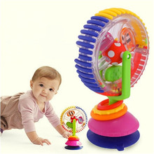Baby Rattle Toys Tricolor Multi-touch Rotating Ferris Wheel Suckers Toy 0-12 Months Newborns cute Educational Baby toy TO219(China)