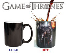 Drop shipping Game of thrones Winter is coming Fire and Blood coffee mugs Eddard Stark color changing mug(China)