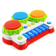 Baby Music Toys Learning and Development Fun Toddler Toys Musical Piano keyboard Drums Early Educational Toys for kids(China)