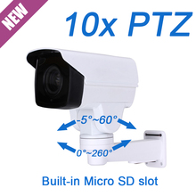 Hot FULL HD 2MP 1080P MINI PTZ IP Camera PoE onvif 10X optical zoom auto focus IR 80M outdoor SD Card slot Network cctv Camera