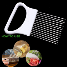 Convenient Kitchen Cooking Tool Onion Holder Fork Onion Tomato Vegetable Slicer Tomato Meat Cutter Stainless Steel And ABS