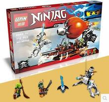New lepin 06029 318pcs Anime Ninjagoed Zeppelin Doubloon Clancee JAY Ninja Raid Zeppelin Weapon Building Blocks(China)