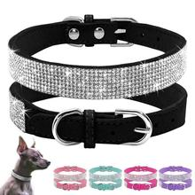 Buy Misterolina New Leather Puppy Dog Collar Adjustable Bling Rhinestone Collars Small Medium Dogs Chihuahua Yorkie Pet Products for $2.59 in AliExpress store