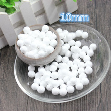 500 pcs 10mm Modelling Polystyrene Styrofoam Foam Ball White Craft Balls For DIY Christmas Party Decoration Supplies Gifts(China)
