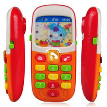 Hot Sale Early Education Toy Children Kids Electronic Mobile Phone with Sound Smart Phone Toy Cellphone Infant Toys Random Color