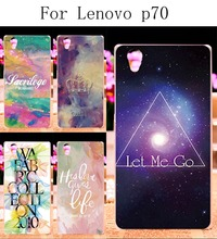 Hard Plastic Soft TPU Phone Cases For Lenovo P70 P70A P70-A P70T Case DIY Back Protection Shell Cover Star Sky Painted Pattern