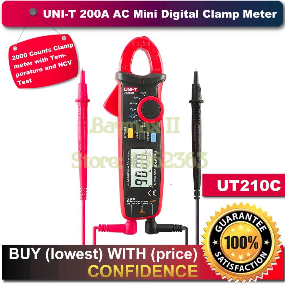 UNI-T UT210C True RMS Auto-Range Digital AC/DC Voltage,AC Current Multimeter with NCV,Temperature Test<br>