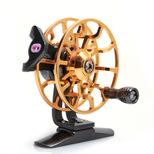lizard Fishing fly reel Free shipping Full metal body ice reel pre-loading spinning fishing reel