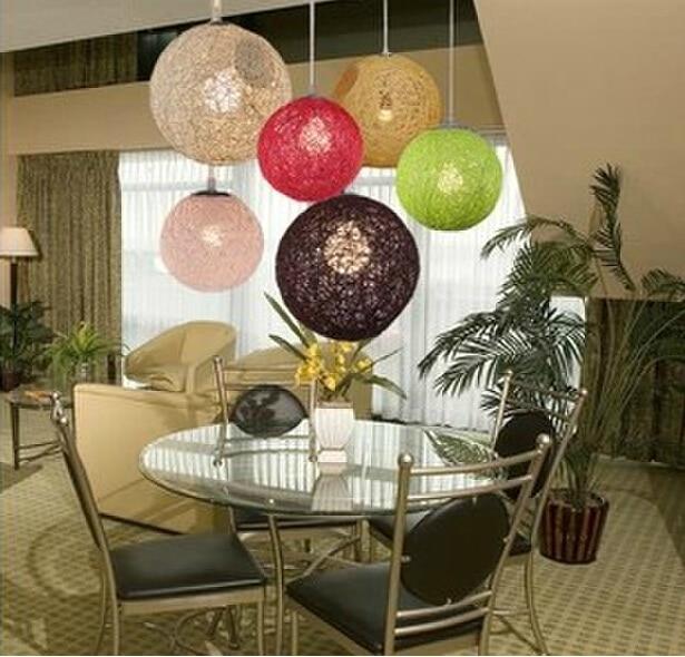 Random Light Simple Rattan Ball Pendant Light Natural handmade twine vines ball pendant lamp<br>