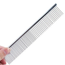 Multi-usage Stainless Steel Pet Dog Cat Combs Long Thick Hair Fur Shedding Remove Rake Comb Pet Grooming Brush(China)