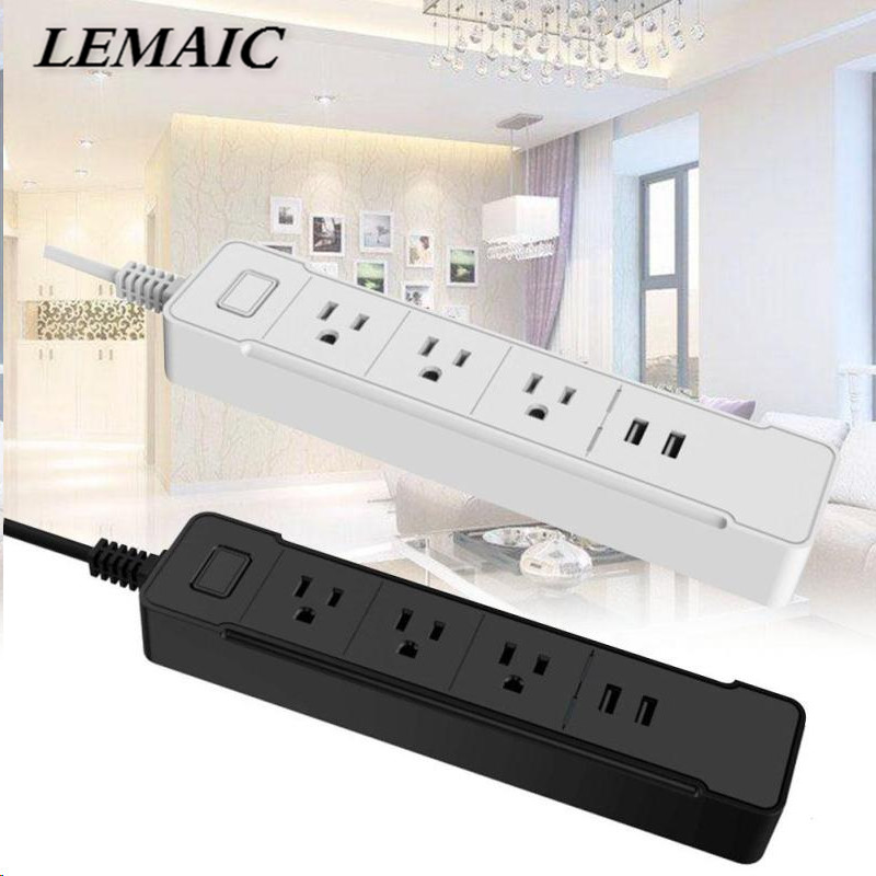 LEMAIC Wifi Wireless Remote Socket Work With Amazon Alexa Voice Control Smart Timer Plug Smart Home Outlet Power Socket US Plug <br>