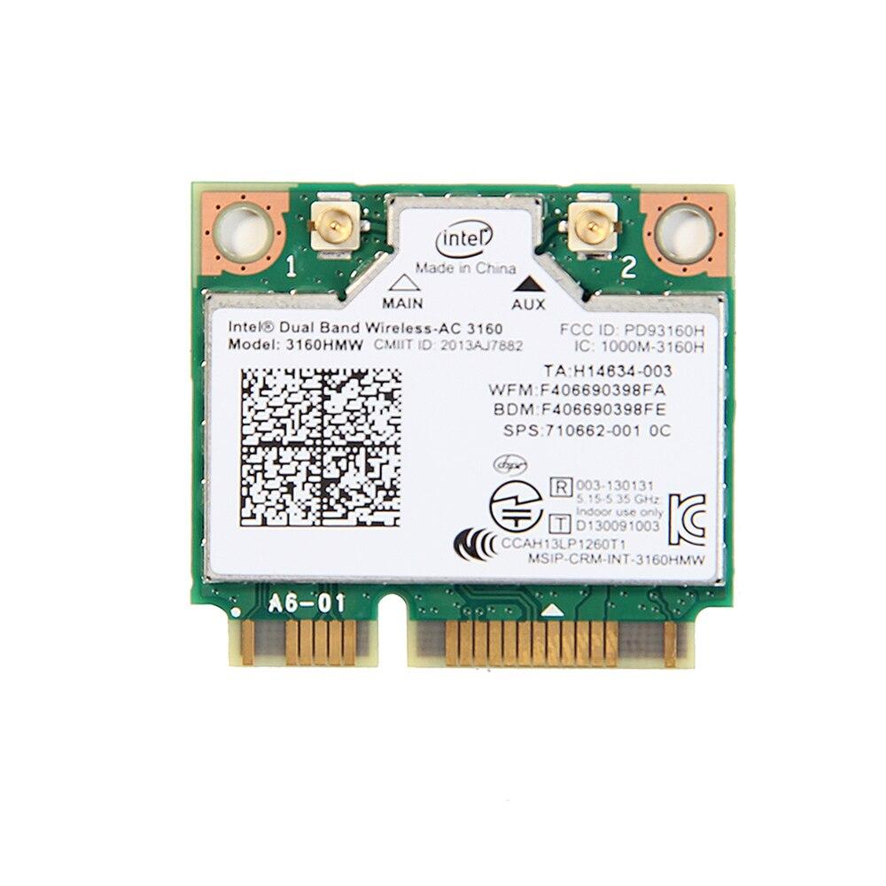 Võrgukaart – Intel 3160 3160HMW Mini PCI-e Wffi Dual Band 2.4G/5Ghz