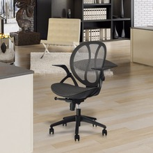 Mid-Back Swivel Mesh Office Chair Executive Computer Chair With 3-Position Locking And Adjustable Armrests(China)
