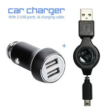 Game accessories Car Charger Metal Casing Dual USB Ports For Nintendo New 3DS/XL & All Android or IOS(China)