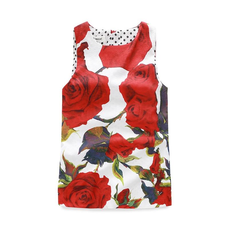 2016 summer style vestido princess dress little Girls jacquard flower print sleeveless dress costume birthday Dress for Girls<br>