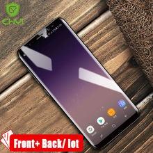 Front+back / lot Hydrophilic fiilm for samsung galaxy s8 plus s7edge screen protector silicon 3D Water -Nano explosion-proof