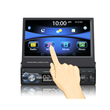 new autoradio Steering-wheel car dvd 7 inch TFT Touch Screen flip down 1 DIN Car Stereo FM only Bluetooth MP3 MP4 Player