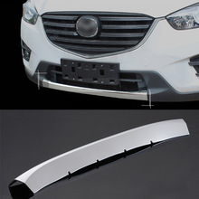 FIT FOR 2013 2014 2015 2016 MAZDA CX-5 CX5 CHROME FRONT BUMPER COVER GRILL GRILLE PROTECTOR TRIM LOWER MOLDING GARNISH SPOILER