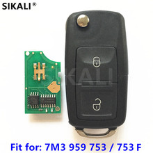 Car Remote Key for 7M3959753 / 7M3959753F for Sharan Alhambra 2001 2002 2003 2004 2005 2006 2007 2008 2009 2010