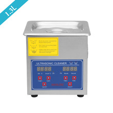 1.3L Digital Stainless Steel Ultrasonic Cleaner Timer Heater Cleaning Machine