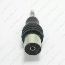1Pc Car Auto Motor 3.5mm TRS Connector to IEC (Female) Adaptor Plug #J-1547