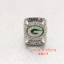 Drop shipping Super Bowl 2010 Green Bay Packers Custom Fans World Aaron Rodgers Number 12 Championship Ring,gift for Christmas(China)