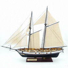 NIDALE Model Free shipping Scale 1/130 HARVEY 1847 wooden ship model +8 pcs brass guns