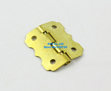 40 Pieces Gold Jewelry Box Hinge Small Hinge 25x20mm with Screws