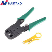 NASTAKO RJ11 RJ45 Cat5 Cat5e Cat6 Pliers Crimper Networking Tools Cat 5 RJ45 Network Cable Crimping stripping pliers Green(China)