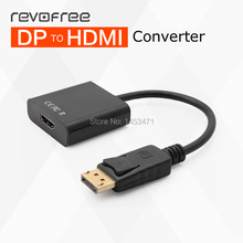 Revofree Large DP to HDMI adapter person computer Display Port connected TV projection Digital HD cable line