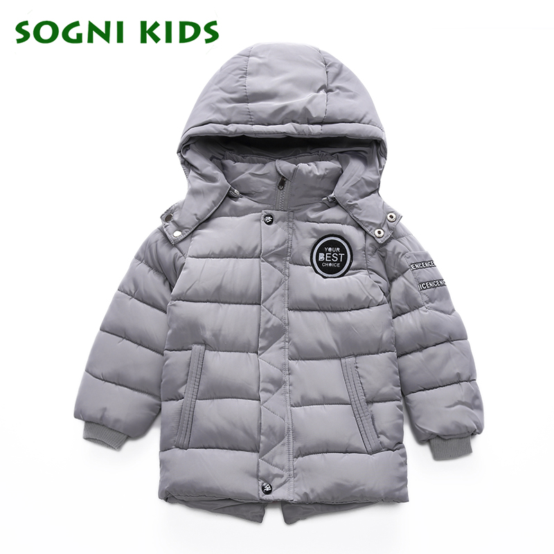3-8Yrs Winter Coat for Boys Thicken Cotton Puffer  Parkas Outerwear Clothing Hooded Turtleneck Solid Color Kids Clothes Winter <br>