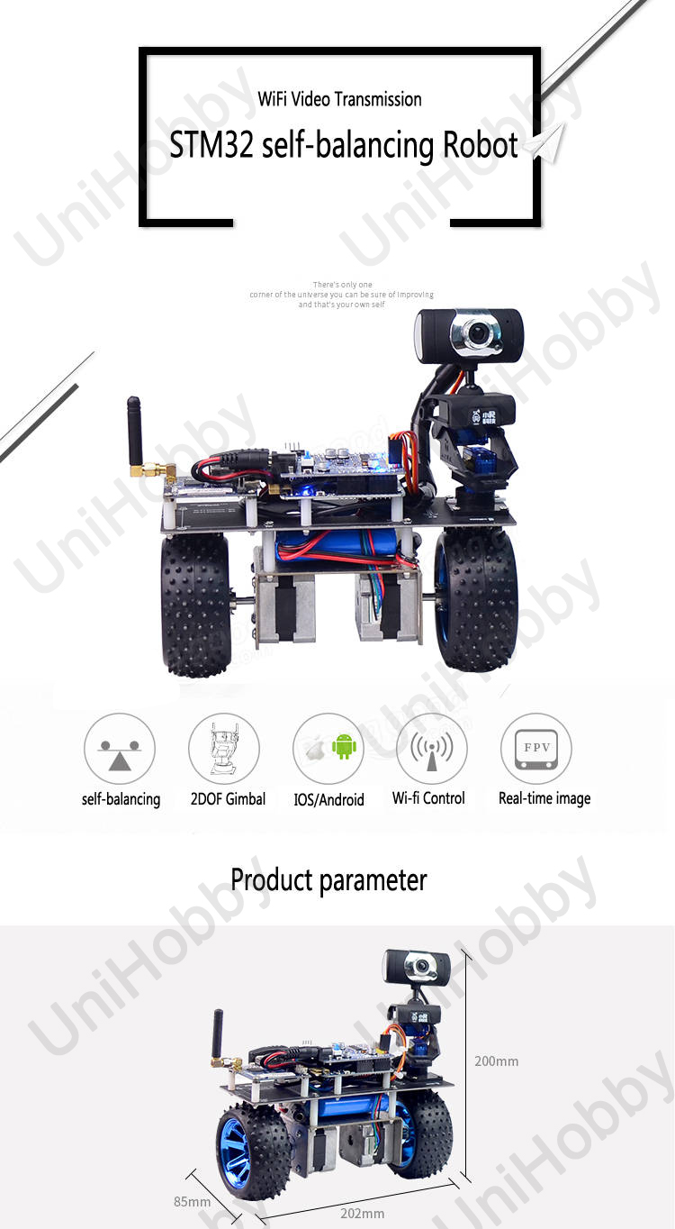 Wifi Robot STM32 Self-Balancing Smart Roly Robot Car Wifi Video Module APP Control Finished Version (1)