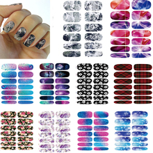 10pcs Set Color Nail Art Stickers Metallic Water Drops Space Water Transfer Stickers for Nail Foils Decal Minx Manicure Decor