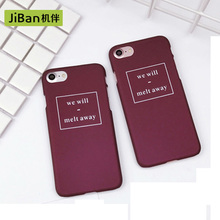 JiBan NEW Phrase Back Cover Color Wine Red Premium Quality PC Phone Case For apple iPhone 6 6S/ 6Plus 6SP/ 7/ 7Plus(China)