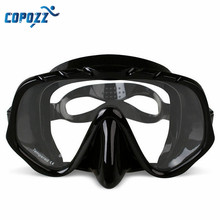 2017 New Arrival Anti-Fog Diving Goggles Swimming Mask Glasses Silicone Large HD View Tempered Mirrored Lens